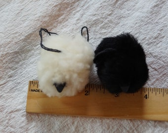 Pet Sheep Christmas sheepskin ornaments, made in the USA