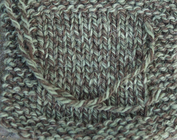 Olive Ragg 3 ply soft wool yarn from our USA farm, free shipping