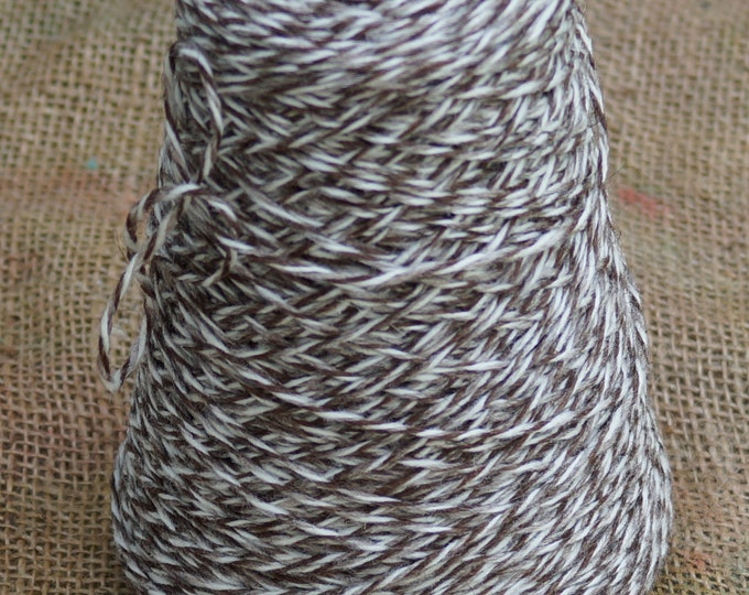 Tweed marl cone soft undyed Merino 3 ply wool yarn free shipping from our American farm for weaving, machine knitting or hand knitting