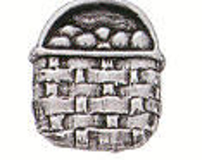 Danforth Button: BASKET pewter shank button