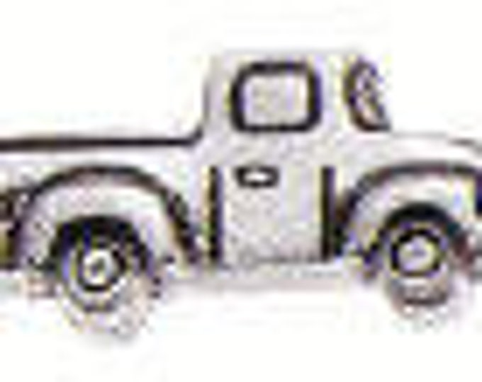 Danforth Button: Pick Up Truck  pewter shank button