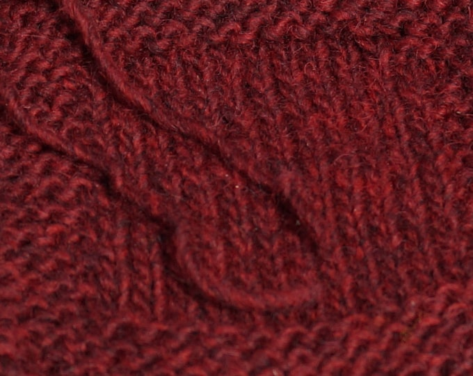Deep Woods Red double twist Lopi style soft wool kettle dyed yarn from our American farm, free shipping