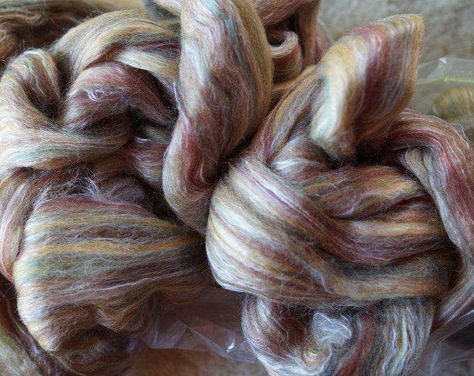 Silk and Wool Roving Field of Rye color from Ashford NZ