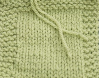 Celadon hand dyed 2 ply soft wool kettle dyed worsted weight yarn from our USA farm Free shipping