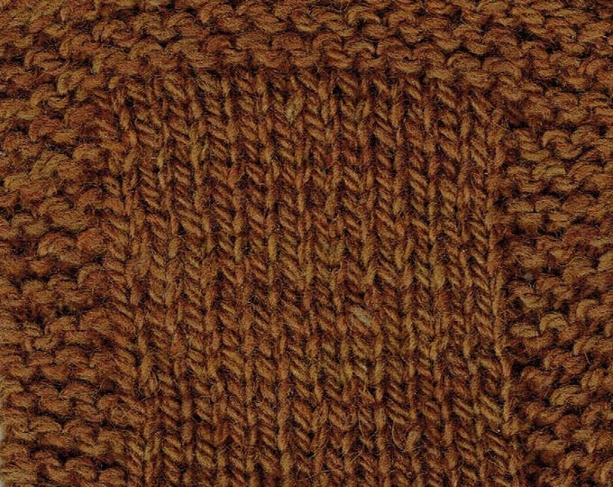 Maple Syrup  3 ply worsted weight kettle dyed soft wool yarn from our American farm, free shipping