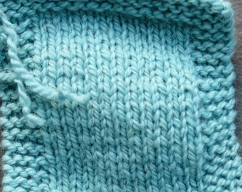 worsted weight yarn: Teal Light 2 ply worsted weight wool yarn from our farm