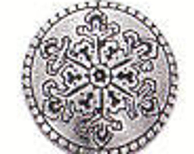 Danforth Button: SNOWFLAKE  shank pewter button