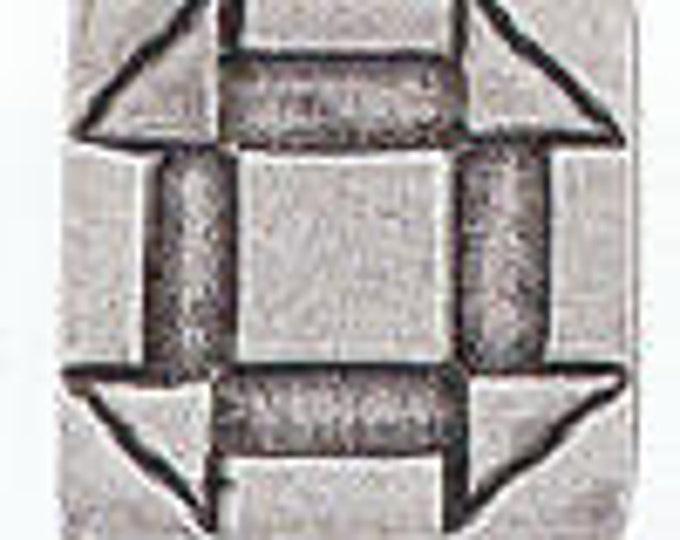 Danforth Button: Quilt Button CHURNDASH  pewter