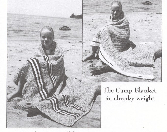 eweCanknit Cottage & Camp Afghans knitting patterns for 2 afghans 1 worsted and 1 bulky/chunky weight