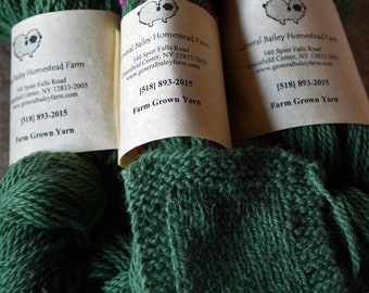 Spring Green sport weight 2 ply wool farm yarn from our American farm free shipping offer grown and made in the USA