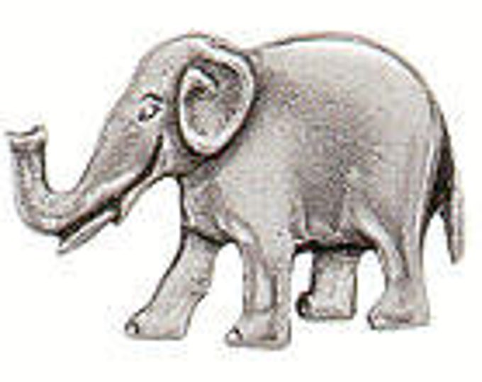 Danforth Button: Elephant  pewter shank button