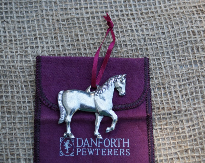 Horse Ornament Christmas from Danforth Pewterers.