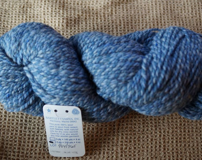 BLUE HEATHER & DENIM worsted 2 ply 2 color marl wool yarn from Bartlettyarns sale
