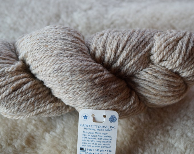 OATMEAL bulky/chunky wool 3 ply Bartlettyarn sale, free shipping offer