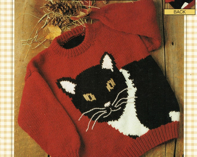 Barn Cat knitting pattern book from eweCanknit with family sizing
