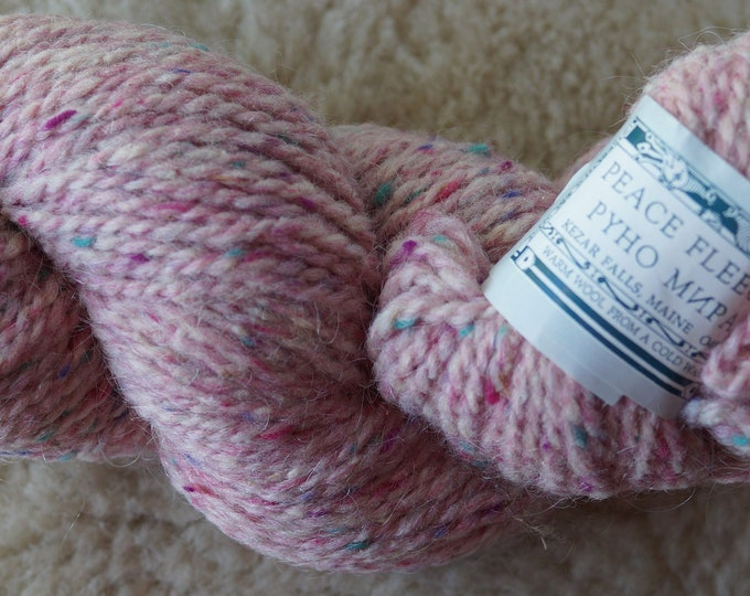 Peace Fleece Moscow Magic Pink wool and mohair worsted weight yarn