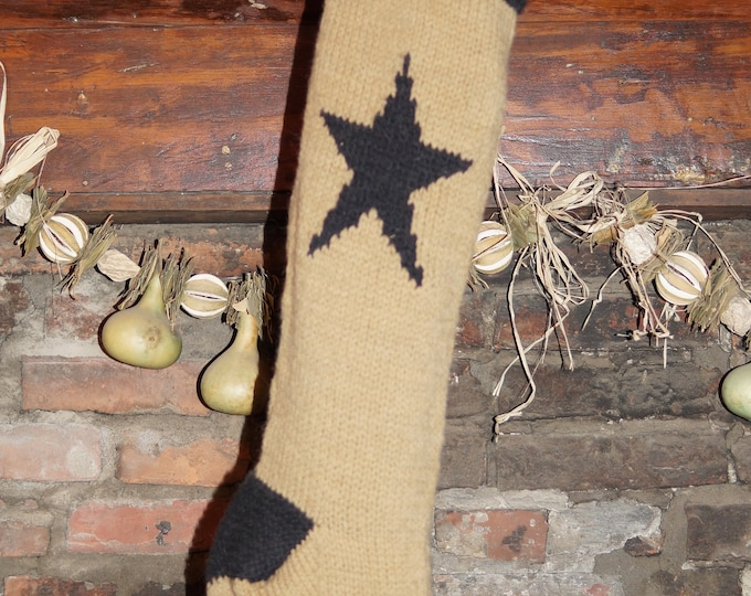 Barn Star Christmas Stocking knitting pattern digital