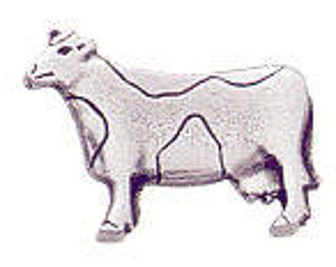 Danforth Button: COW  pewter shank button