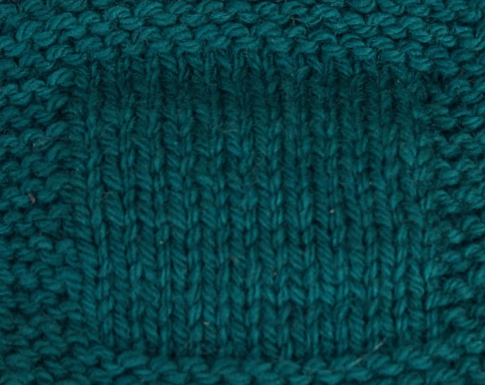 Spruce 3 ply hand dyed worsted weight soft wool yarn from our American farm. Free Shipping