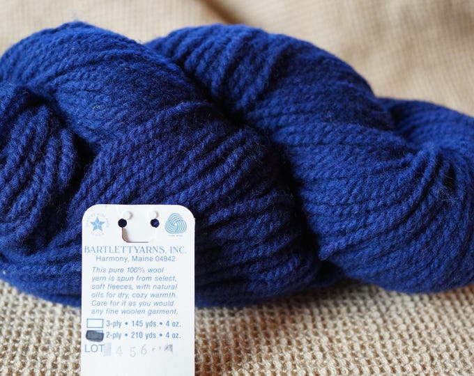 NAVY BLUE worsted weight 2 ply wool yarn, free shipping offer, Bartlettyarn sale