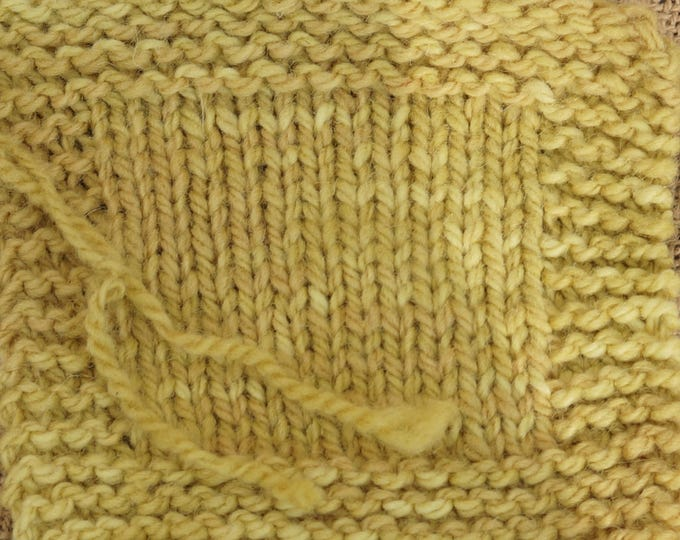 Olde Gold 2 ply kettle dyed soft wool worsted weight yarn from our American farm Free shipping