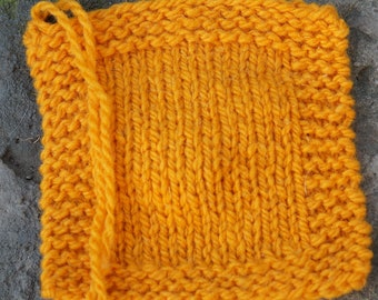 Pumpkin Bulky 2 ply soft wool hand dyed yarn from our American farm free shipping offer