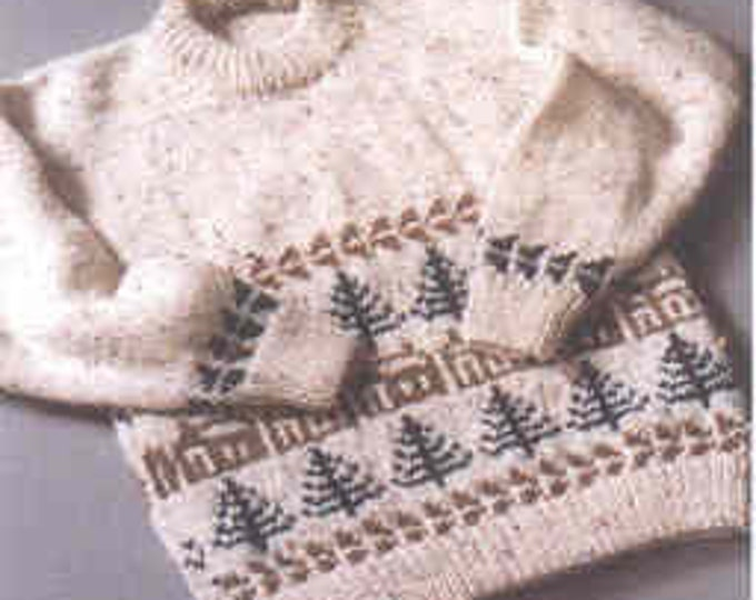 Country's Child Cabin Fever child's sizes 4-10 and adult sizes 40-53 inches knitting pattern