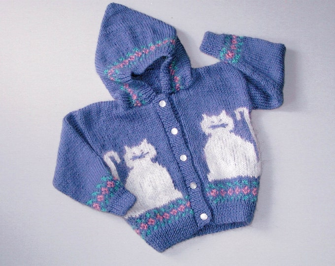Country's Child pattern 112 Pretty Kitties child's hoodie knitting pattern