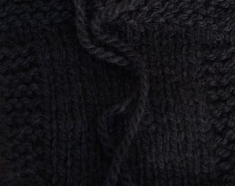 Black farm raised yarn kettle dyed 2 ply worsted wool yarn from our USA  farm