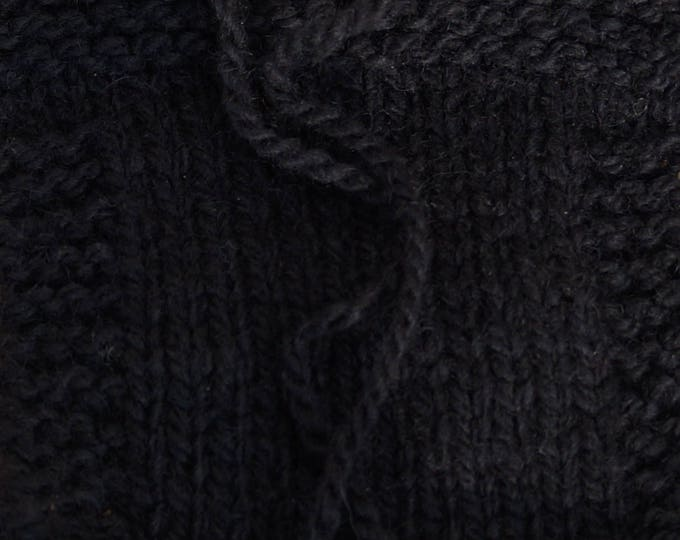 Black 2 ply worsted  kettle dyed soft wool yarn from our American farm, free shipping