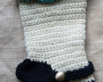 Hand Crochet Christmas Stocking made in the USA