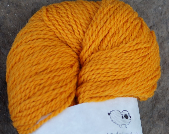 Pumpkin worsted 2 ply kettle dyed soft wool yarn from our American farm, free shippng offer