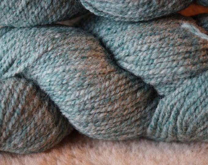 GREEN HEATHER 2 ply worsted weight wool yarn from Bartlettyarn sale