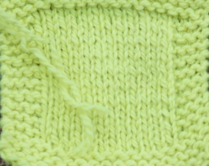 Neon Yellow 2 ply kettle dyed wool worsted weight soft wool yarn from our American farm Free shipping
