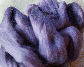 Corriedale Grape color soft wool roving for spinning or felting from Louet, sale priced