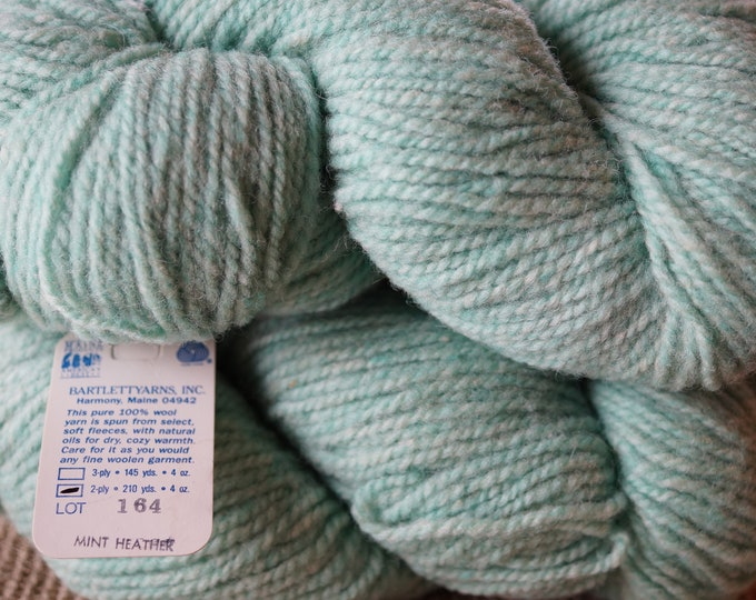 MINT HEATHER 2 ply worsted weight Bartlettyarns sale priced