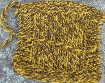 Gold Ragg farm raised woolyarn  3 ply worsted weight  from our small USA farm