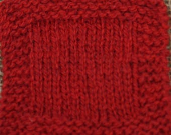 sport weight yarn: RED APPLE Sport weight 2 ply wool yarn from USA local farm self raised soft wool