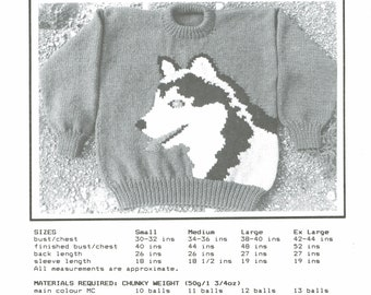eweCanknit Husky adult knitting pattern digital