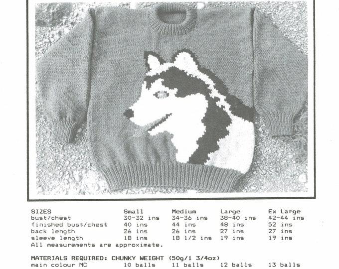 eweCanknit Husky adult knitting pattern digital