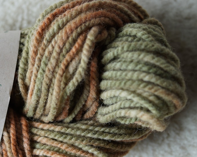 Autumn bulky 2 ply soft wool yarn from our American farm, free USA shipping