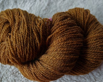 Toffee sport weight 2 ply soft wool Farm Yarn from our American farm free shipping offer