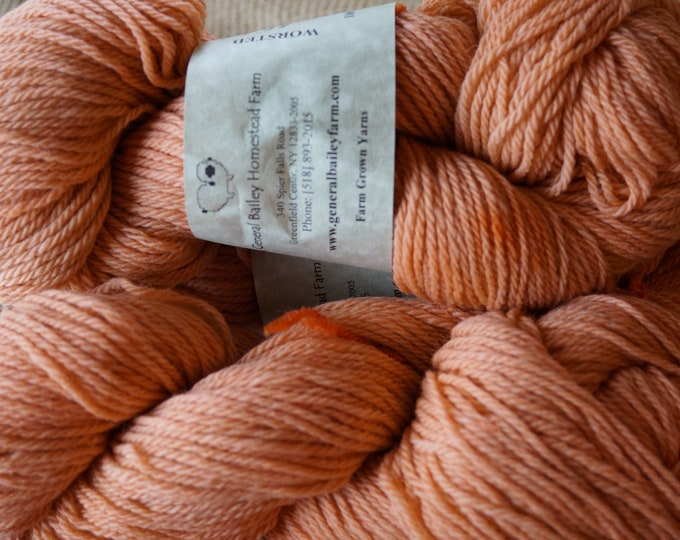 Adobe 3 ply worsted weight hand dyed soft woolfarm raised yarn  from our American farm, free shipping