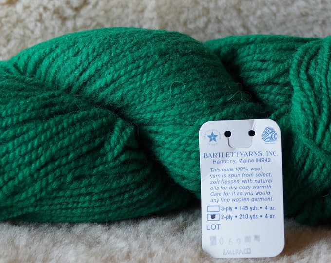 EMERALD 2 ply wool worsted weight mule spun USA Bartlettyarn sale
