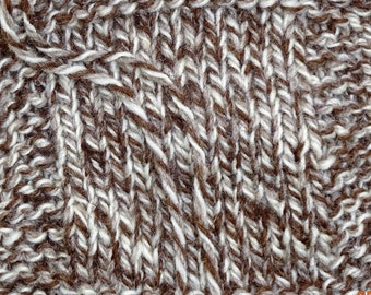 worsted weight yarn: TWEED SHEEP undyed natural color soft  Merino wool yarn worsted 3 ply 250 yd skein from our American farm