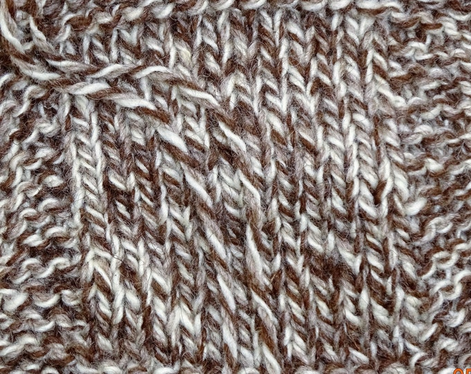TWEED SHEEP farm yarn undyed natural color soft  Merino wool yarn worsted 3 ply 250 yd skein from our American farm