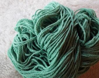Meadow Green Sport yarn from our American farm