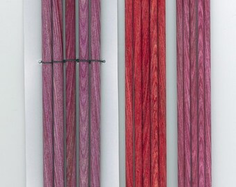 8 inch DP set of 5 wood knitting needles from Knitters Pride Dreamz