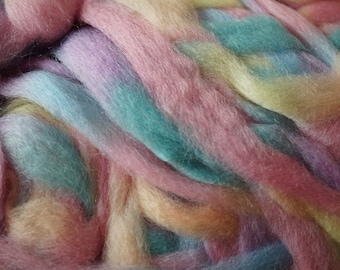 Merino Northern Lights Roving from Louet two colors