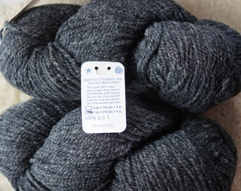 Charcoal Bartlettyarns 2 ply worsted weight wool yarn, sale priced